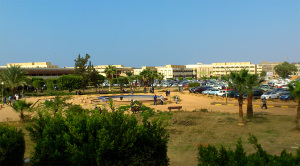 Faculty of Engineering campus, with the Faculty of Science in the background. Benghazi University before the war