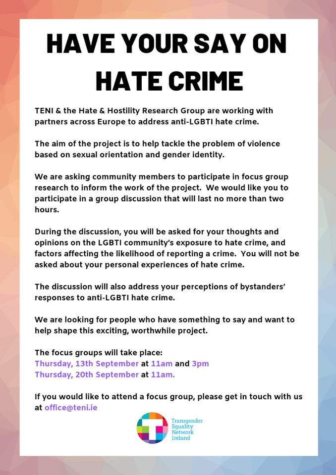 have your say on hate crime